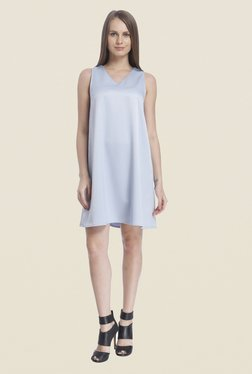 Vero Moda Light Blue Solid Dress