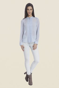 Vero Moda Light Blue Solid Shirt