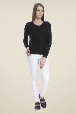 Vero Moda Black Crochet Cardigan