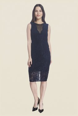 Vero Moda Navy Lace Dress - Mp000000000585500