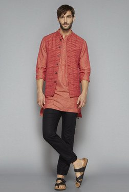 ETA By Westside Orange Slim Fit Kurta