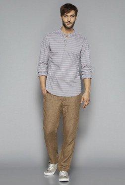 ETA By Westside Grey Slim Fit Shirt