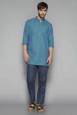ETA By Westside Blue Slim Fit Kurta