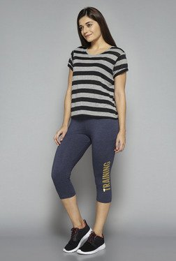 Westsport by Westside Black Striped T Shirt