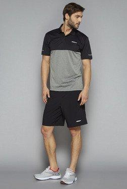 Westsport By Westside Grey & Black Slim Fit T Shirt