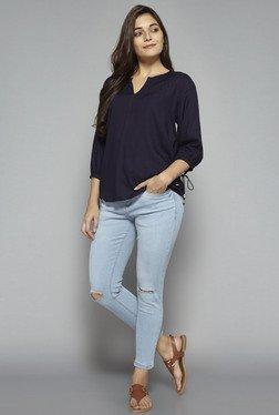 LOV By Westside Light Blue Distressed Jeans