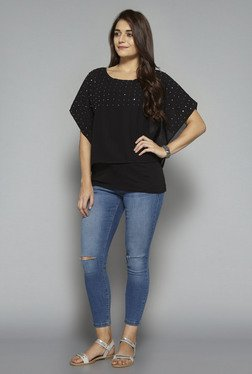 LOV by Westside Black Embellished Top