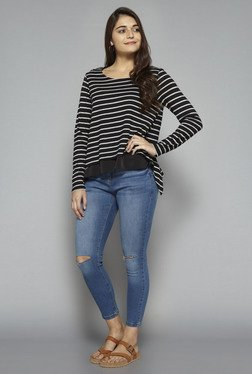 LOV by Westside Black Striped T Shirt