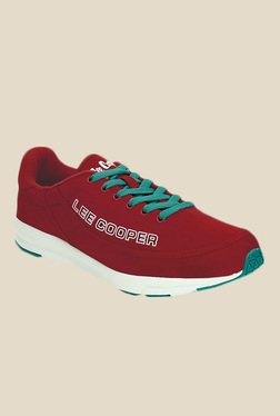 Lee Cooper Maroon & Turquoise Running Shoes