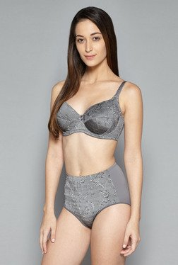 Wunderlove by Westside Grey Hi Leg Brief
