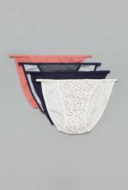 Wunderlove by Westside Off White G String Bikini (Pack of 4)