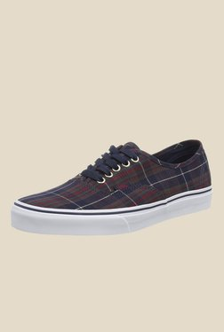 Vans Authentic Navy & Red Sneakers