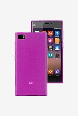Plastron Soft Silicone Jelly Back Case for Xiaomi Mi3  Pink  available at TatacliQ for Rs.249