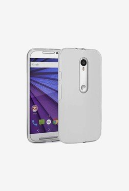 Plastron Silicone Back Case Cover for Moto G3  Transparent  available at TatacliQ for Rs.249