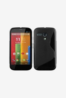 Plastron TPU Back Case Cover For Motorola Moto G (Black)
