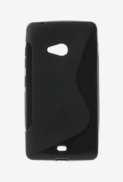 Plastron TPU Back Case Cover For Nokia Lumia 540 (Black)
