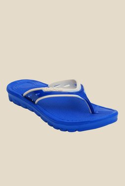 Nexa Light Blue & White Flip Flops