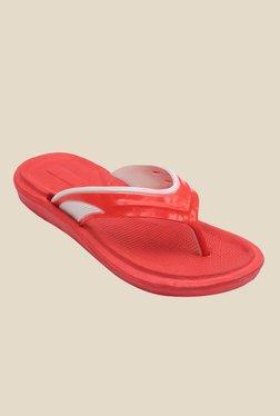 Nexa Comfort Red & White Flip Flops