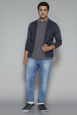 Oak & Keel by Westside Navy Textured Sweater