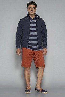 Oak & Keel By Westside Navy Striped Polo T Shirt
