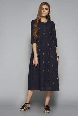 Bombay Paisley by Westside Dark Navy Printed Dress