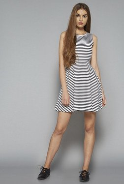Nuon by Westside White Striped Lyra Dress