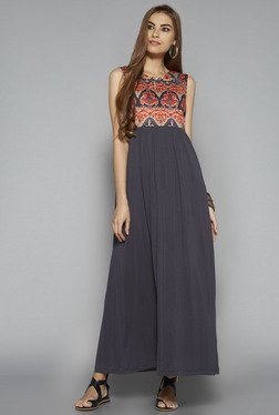 Bombay Paisley by Westside Purple Printed Maxi Dress