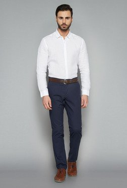 Ascot By Westside White Solid Slim Fit Shirt