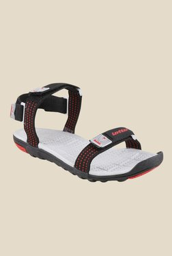 Lotto Section Red & Black Floater Sandals