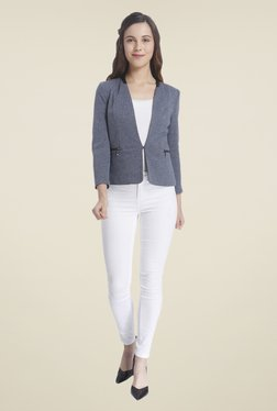 Vero Moda Grey Textured Blazer