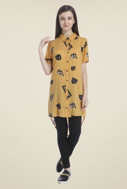 Only Mustard Printed Shirt