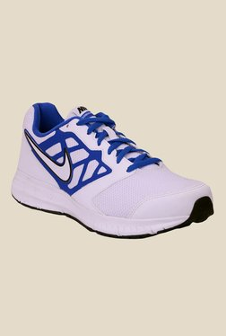 Nike Downshifter 6 MSL White & Blue Training Shoes