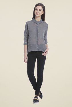Only Black & White Striped Shirt
