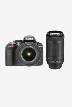Nikon D5300 With (AF-P 18-55 & 70-300 Mm Lens) DSLR (Black)