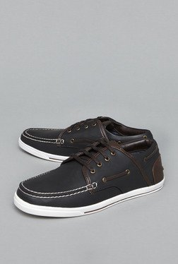 Azzurro By Westside Black Boat Shoes