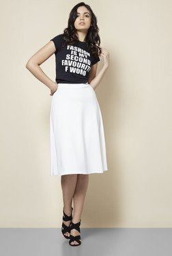 Boohoo White Arianna Plain Full Circle Skirt