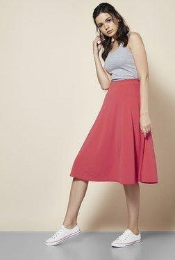 Boohoo Coral Arianna Plain Full Circle Skirt