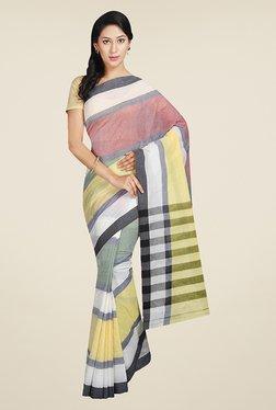 Pavecha's Multicolor Solid Cotton Mangalagiri Saree
