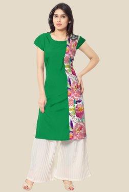 Ahalyaa Green Floral Print Kurta