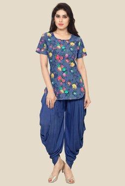 Ahalyaa Blue Floral Print Kurti