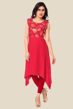 Ahalyaa Red Printed Kurta - Mp000000000606688