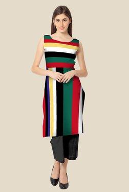 Ahalyaa Multicolor Striped Kurta