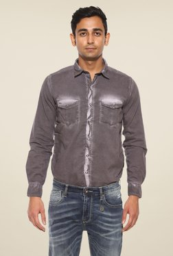 Pepe Jeans Purple Solid Shirt