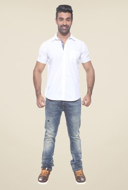 Pepe Jeans White Solid Shirt