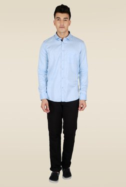 Lawman Light Blue Slim Fit Casual Shirt