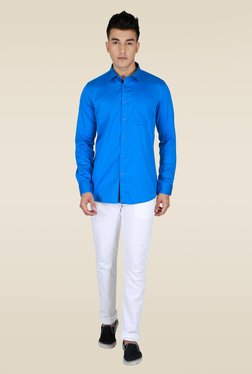 Lawman Blue Slim fit Printed Shirt