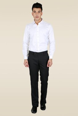Lawman White Full Sleeve Party Shirt