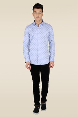 Lawman Turquoise Full Sleeve Party Shirt