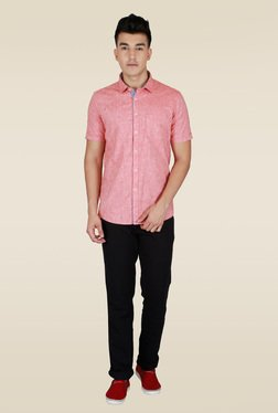 Lawman Red Half Sleeve Casual Shirt