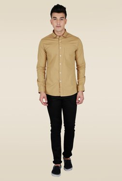 Lawman Khaki Solid Casual Shirt